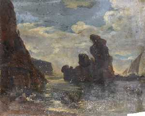 Thomas Stuart Smith - Rocky Outcrop in the Water