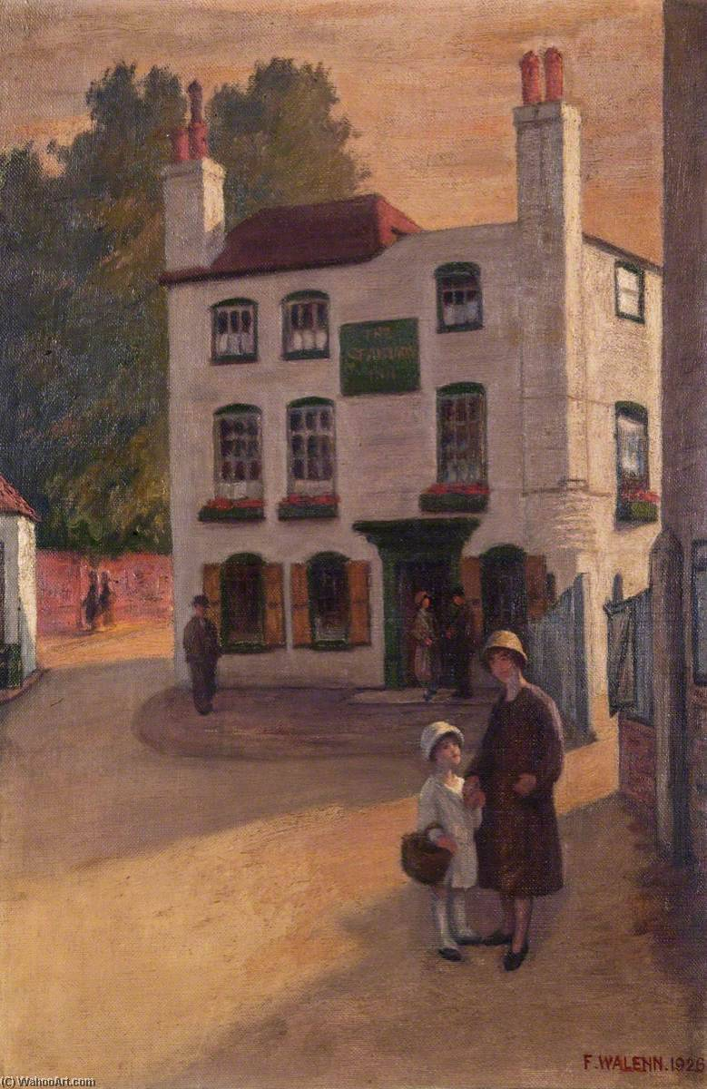 Order Reproductions | The `Spaniards Inn`, 1926 by Frederick Dudley Walenn | WahooArt.com
