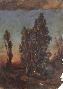 Thomas Stuart Smith - Sunset with Trees
