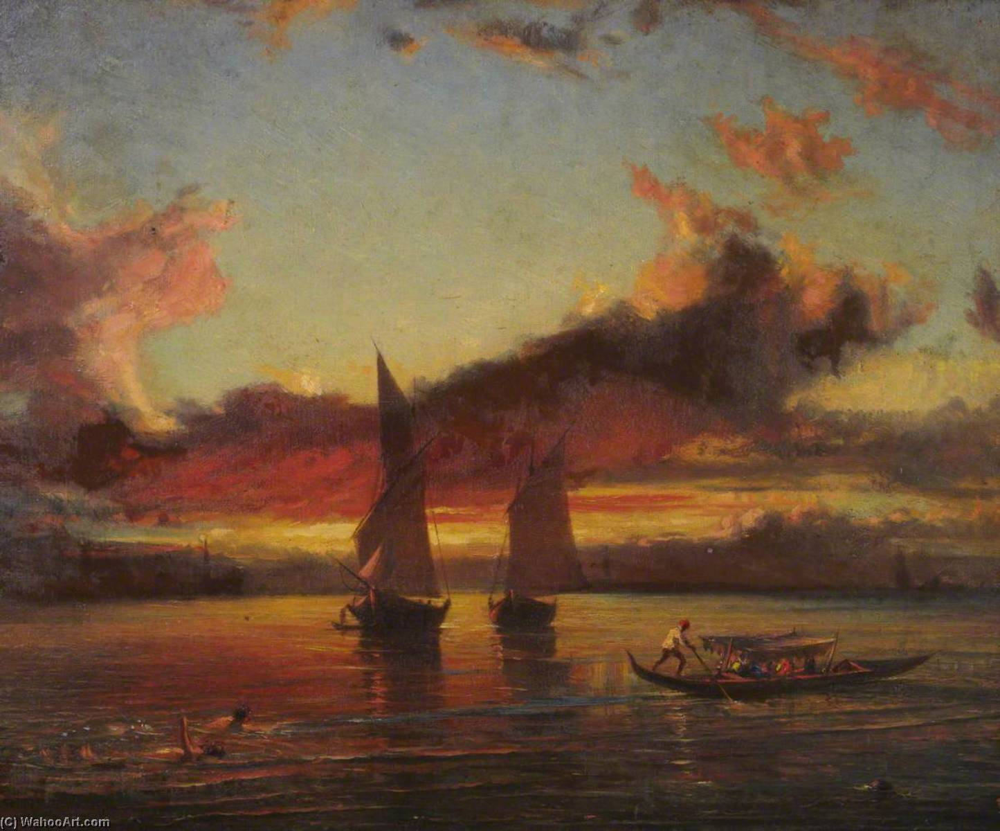 Order Painting Copy : Sunset on the Lagoon by Thomas Stuart Smith | WahooArt.com