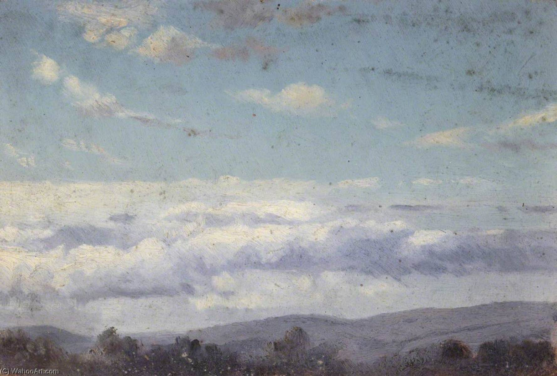 Forest Landscape with Clouds by Thomas Stuart Smith | Art Reproduction | WahooArt.com