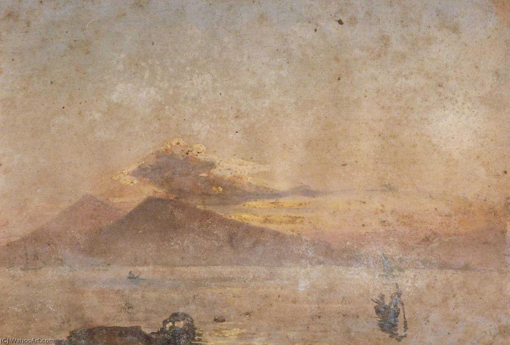 Boats on the Water with Mountains, Oil by Thomas Stuart Smith