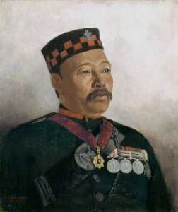 Gertrude Ellen Burrard - Subadar Major Judbhir Thapa, 2nd (Prince of Wales's Own) Gurkha (Rifle) Regiment (The Sirmoor Rifles)