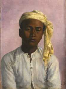 Gertrude Ellen Burrard - Maung Pe, a Chaprasi (messenger) in the Triangulation Survey Party (brought from Burma by Captain C. F. Close, RE)