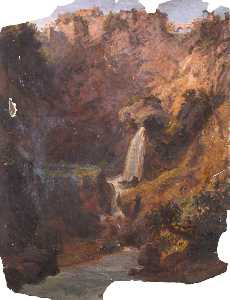 Thomas Stuart Smith - Waterfall in a Rocky Landscape