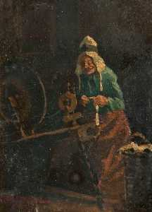 Thomas Mcewan - At the Spinning Wheel