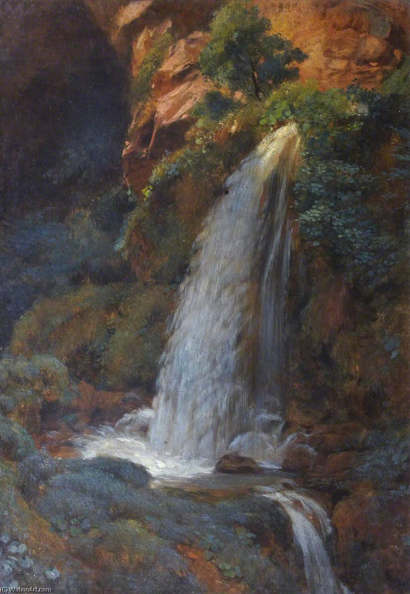A Waterfall on the Istria, Oil On Canvas by Thomas Stuart Smith