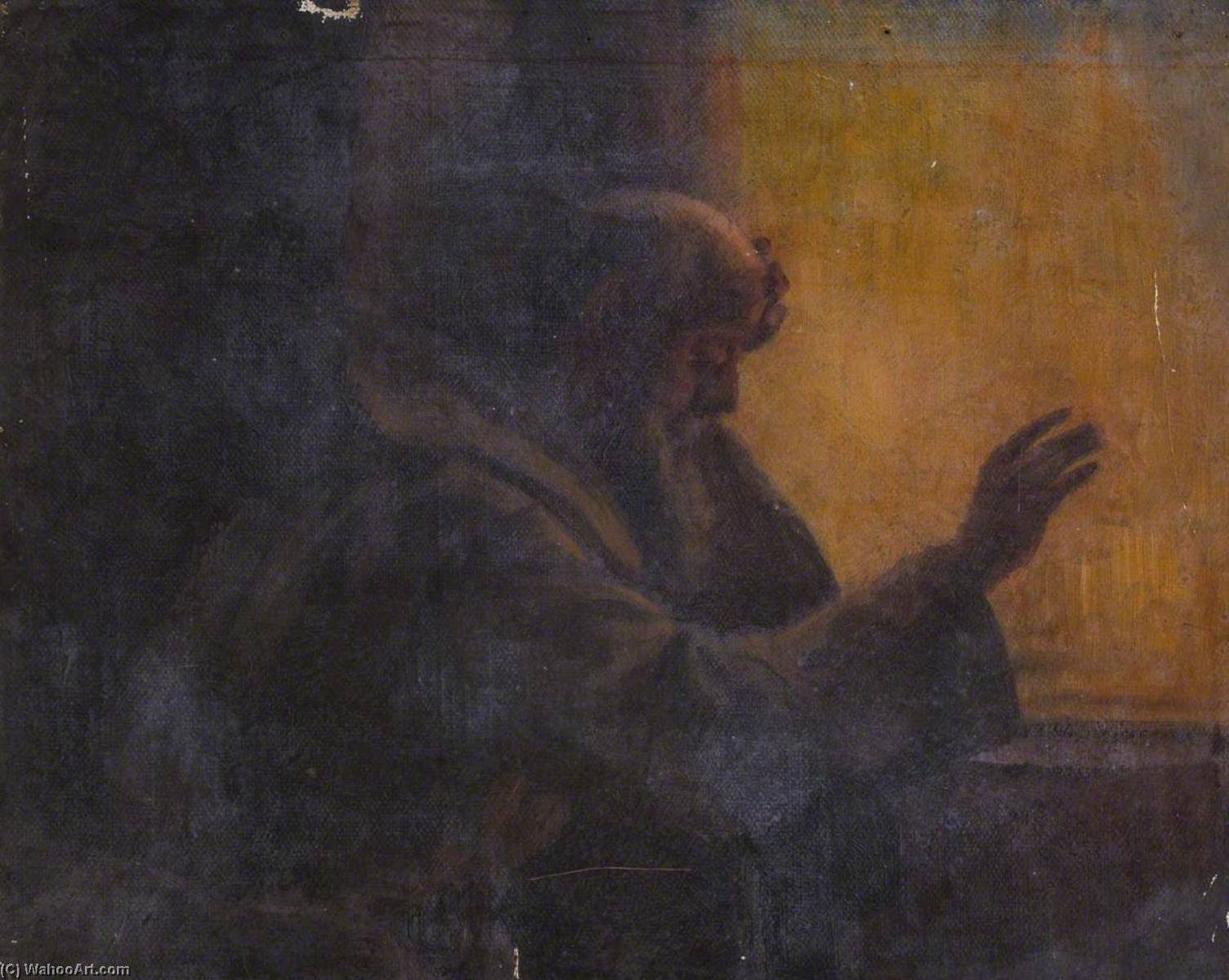 Study for a Monk by a Window by Thomas Stuart Smith | Painting Copy | WahooArt.com