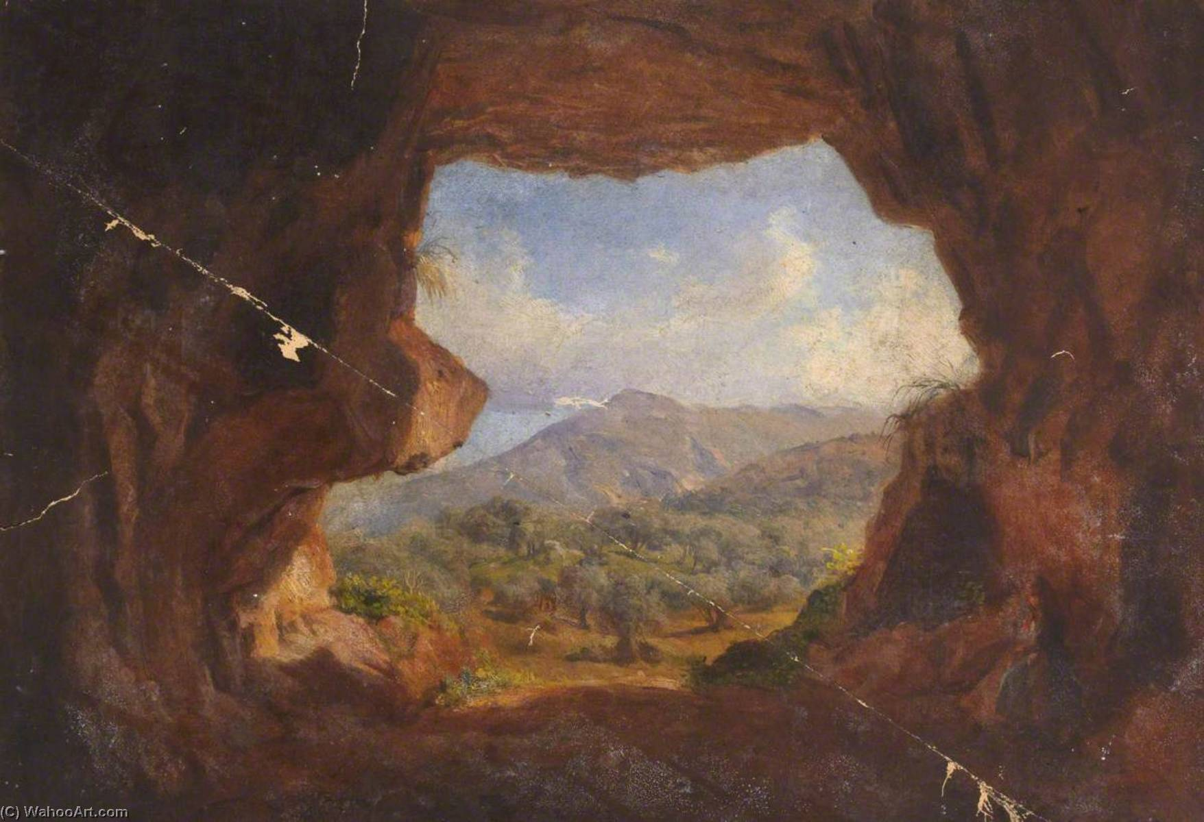 Landscape through a Cave by Thomas Stuart Smith | Museum Quality Reproductions | WahooArt.com