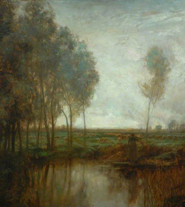 Pastoral, 1887 by Thomas Hope Mclachlan | Oil Painting | WahooArt.com