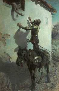 Rowland Wheelwright - Don Quixote and Maritornes at the Inn (from the novel by Cervantes)