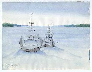 Buy Museum Art Reproductions | Tugs, MC and GC by Theodore Hancock | WahooArt.com
