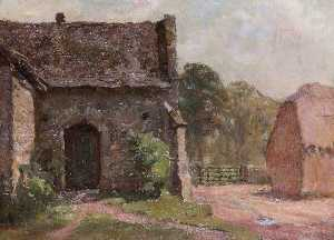 William Teulon Blandford Fletcher - Part of the Old Tithe Barn, Abingdon, Oxfordshire