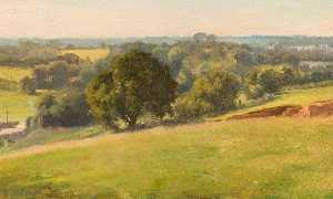 Edward Archibald Brown - A Summer Afternoon, the Fields, Bengeo, Hertfordshire