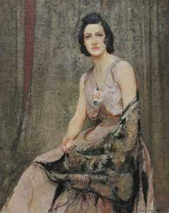 Ernest Borough Johnson - Portrait of Esther Borough Johnson