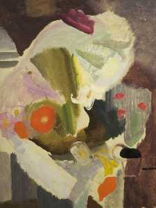 Ivon Hitchens - Still Life with Poppies