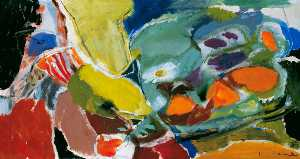 Ivon Hitchens - Patchwork of Daisies and Marigolds