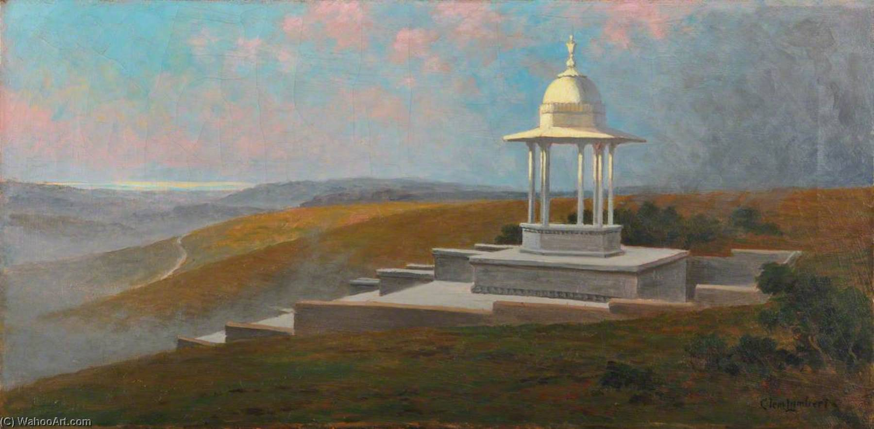 The Chattri at Patcham, East Sussex, Oil On Canvas by Clement Lambert