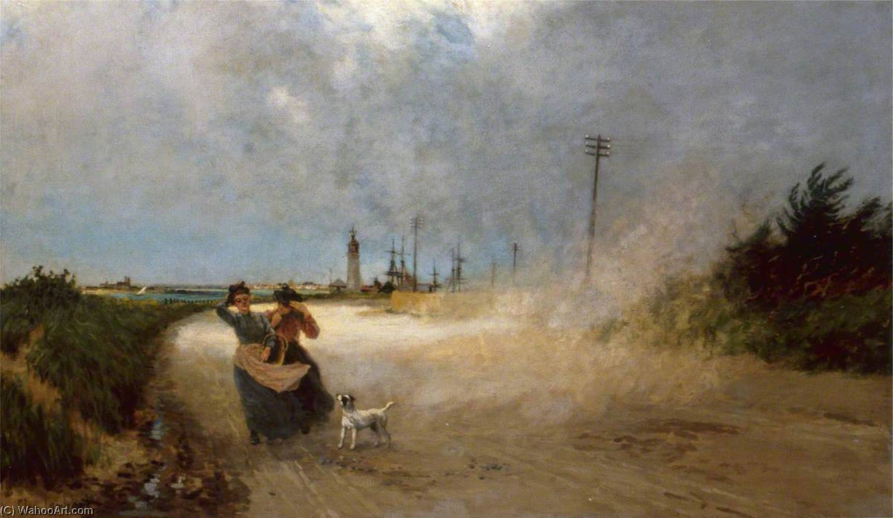 The Dust Storm, Oil On Canvas by Clement Lambert