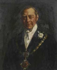John Henry Frederick Bacon - Hugh Cecil Lowther (1857–1944), 5th Earl of Lonsdale, Wearing the Whitehaven Mayoral Chain