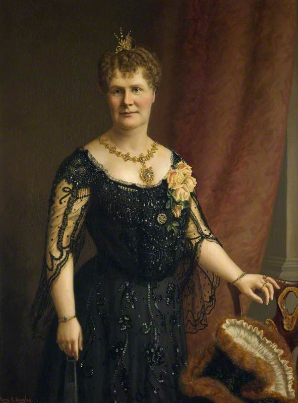 Lady M. A. Henderson (1861–1942), 1898 by Harry R Douglas | Oil Painting | WahooArt.com