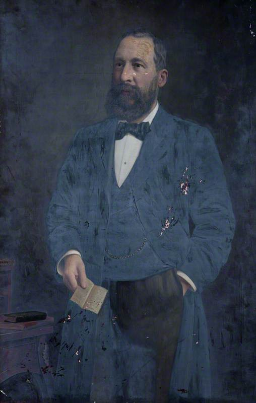 Jonathan Phenix (1845–1897), JP, Oil On Canvas by Harry R Douglas