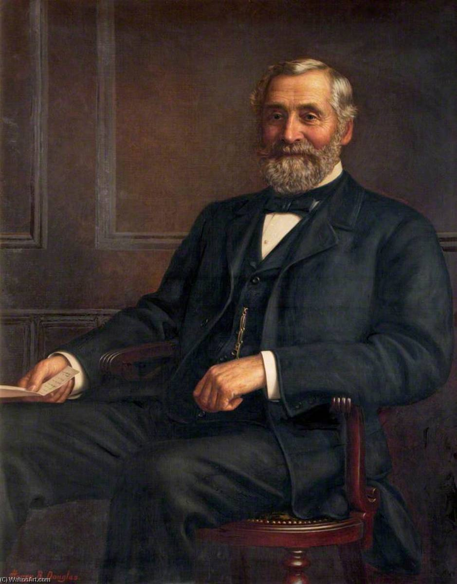 Joseph Atkinson, Esq., DL, JP, Oil On Canvas by Harry R Douglas