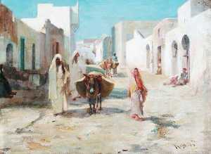James Coutts Michie - Street in Tangier, Morocco
