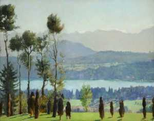 Mary Dawson Elwell - Above the Wörthersee, Austria October
