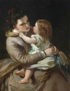 Daniel Macnee - Lady Macnee and Her Daughter (Portrait of the Artist's Daughter and Granddaughter)