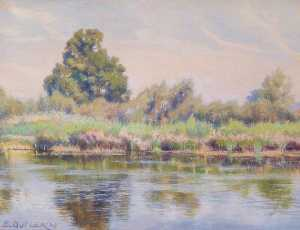 Charles Ernest Butler - Reeds and Rushes at Tilehurst, Reading, Berkshire