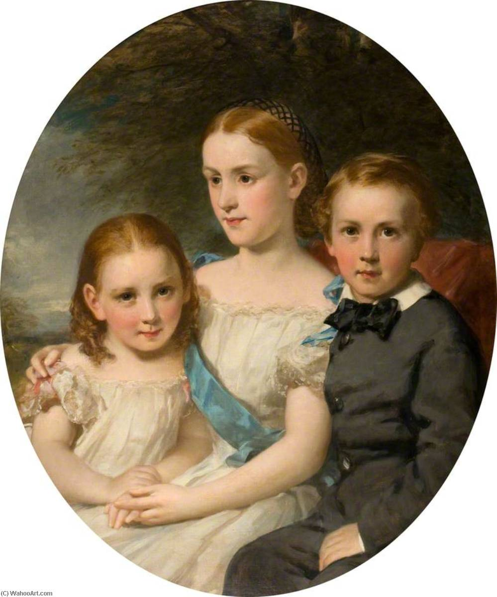 The Children of William Neish, 1862 by Daniel Macnee | Oil Painting | WahooArt.com