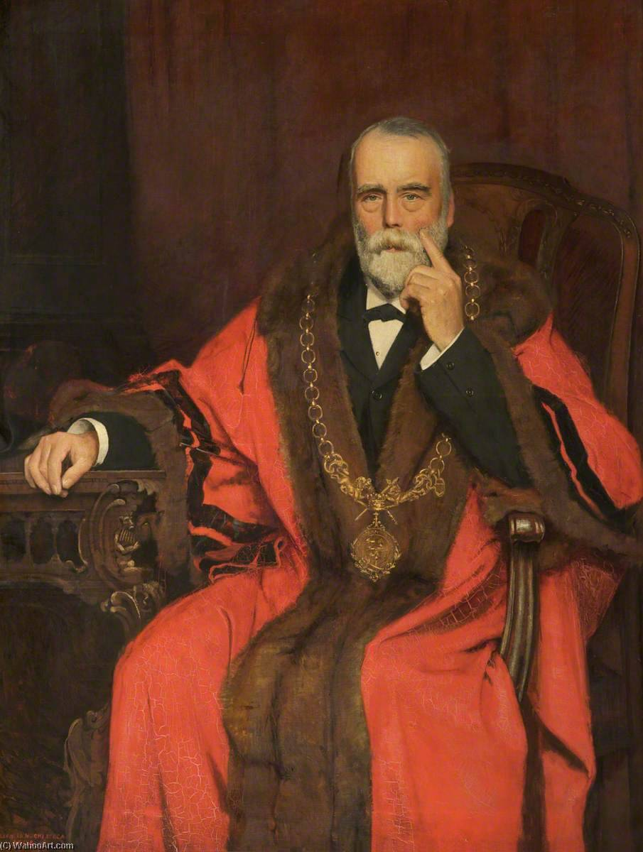 Leonard Gilbert, Mayor of Chester (1893), 1894 by Thomas Leonard Hughes | Museum Quality Reproductions | WahooArt.com