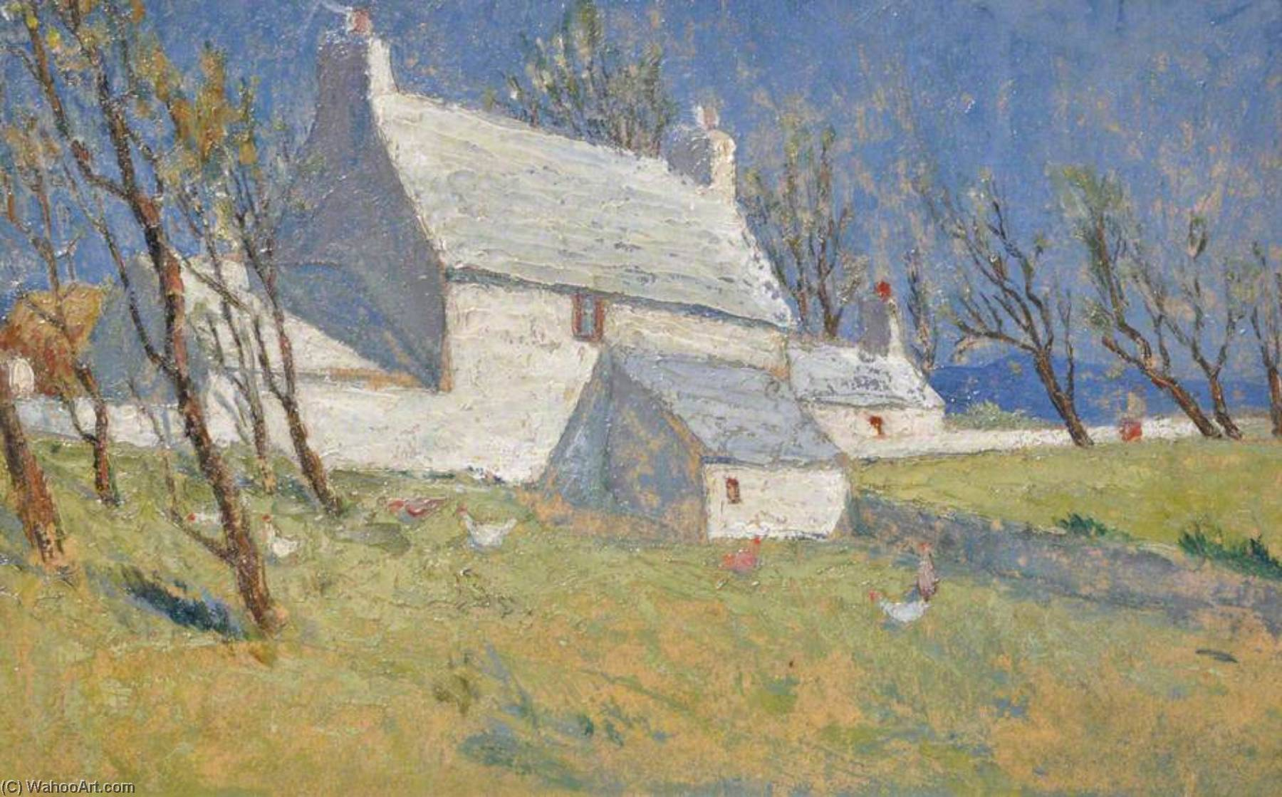 Whitewashed Cottage, 1933 by Harry Hughes Williams | WahooArt.com