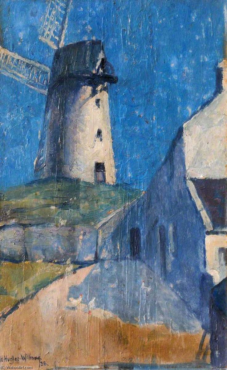 Stanley Mill, Oil On Canvas by Harry Hughes Williams