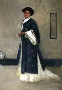 James Hamilton Hay - The Lady with the Japanese Gown, Miss Enid Rutherford (d.1911)