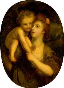 John Graham Gilbert - Nymph with Infant Bacchus (after Joshua Reynolds)