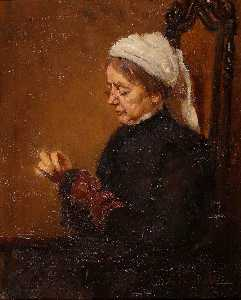 Rose Mead - Mrs Mead, Darning Socks