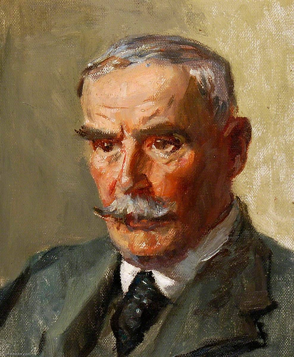 Frank Mead, Oil On Canvas by Rose Mead