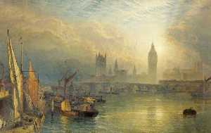 Henry Thomas Dawson - The New Houses of Parliament and the Thames