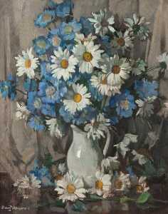 David Alison - Blue and White Flowers