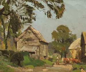 Albert Ernest Bottomley - A Farm Road