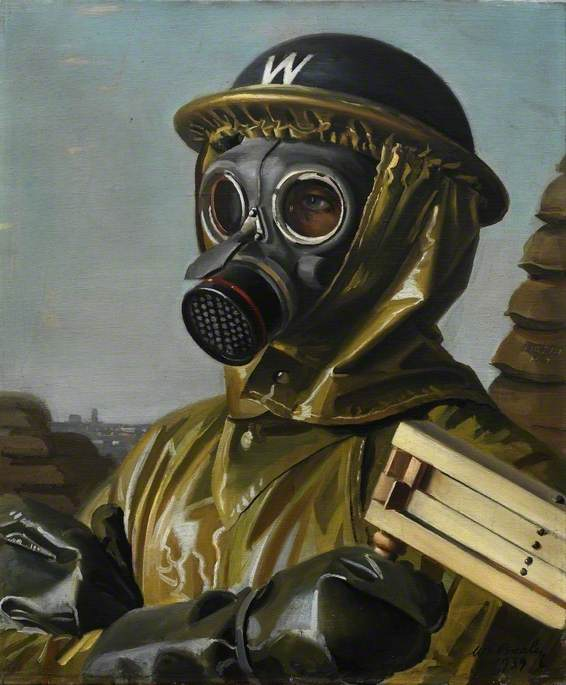 Gas Mask, 1939 by William Ramsden Brealey | Art Reproduction | WahooArt.com