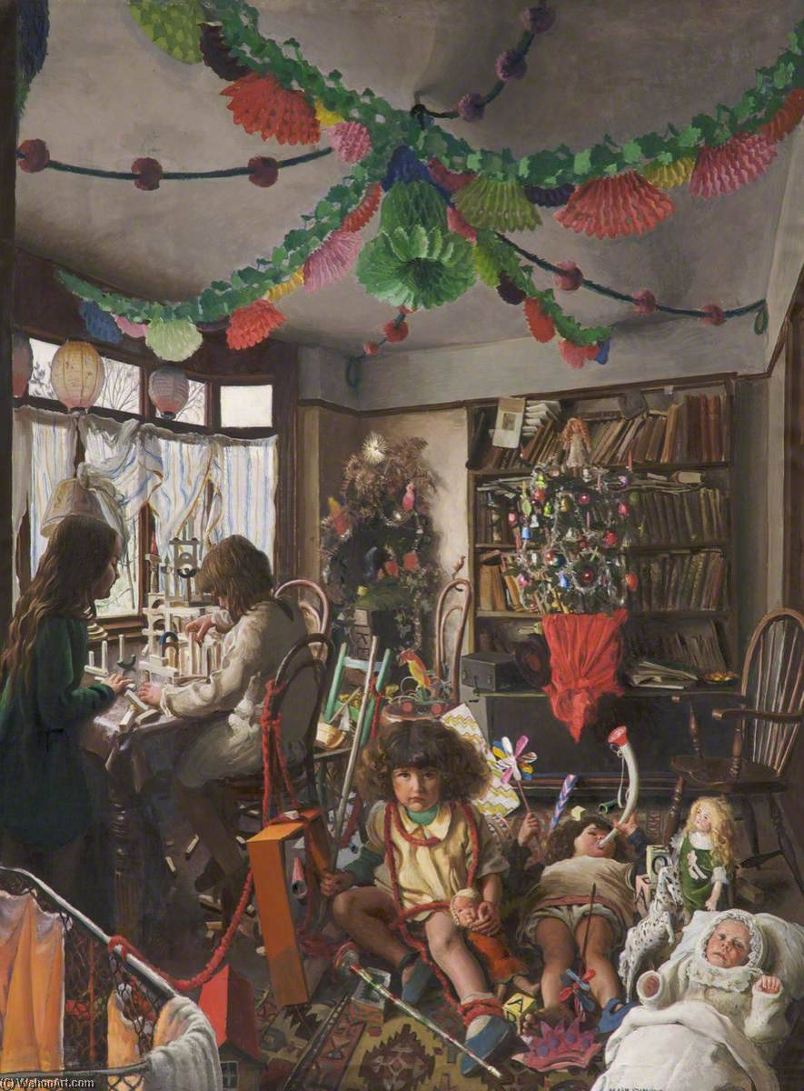The Day after Christmas, Oil On Canvas by Mark Lancelot Symons