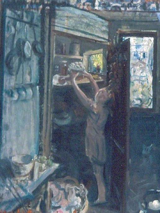Molly in the Pantry (preparatory study), Oil by Mark Lancelot Symons