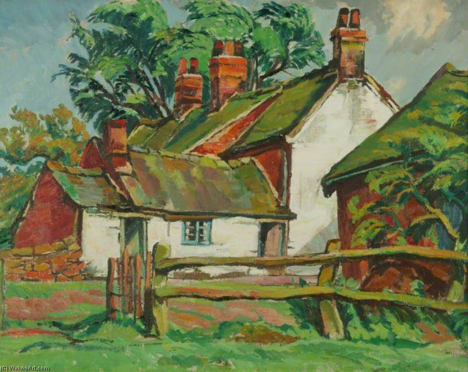 'Wheatsheaf Hotel', 1932 by Rowley Smart | WahooArt.com