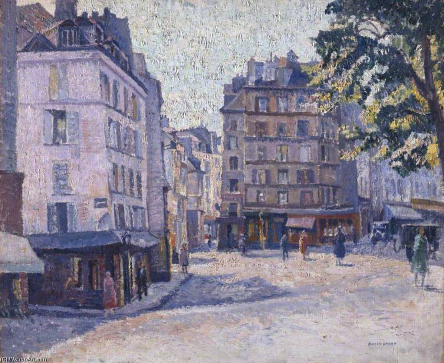 Quai St Michel, Paris, Oil On Canvas by Rowley Smart