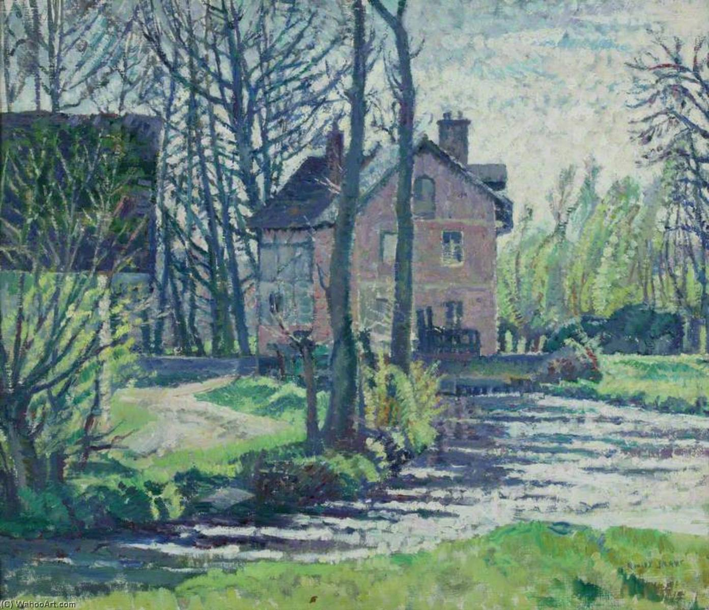 The Mill, Giverny, Oil On Canvas by Rowley Smart