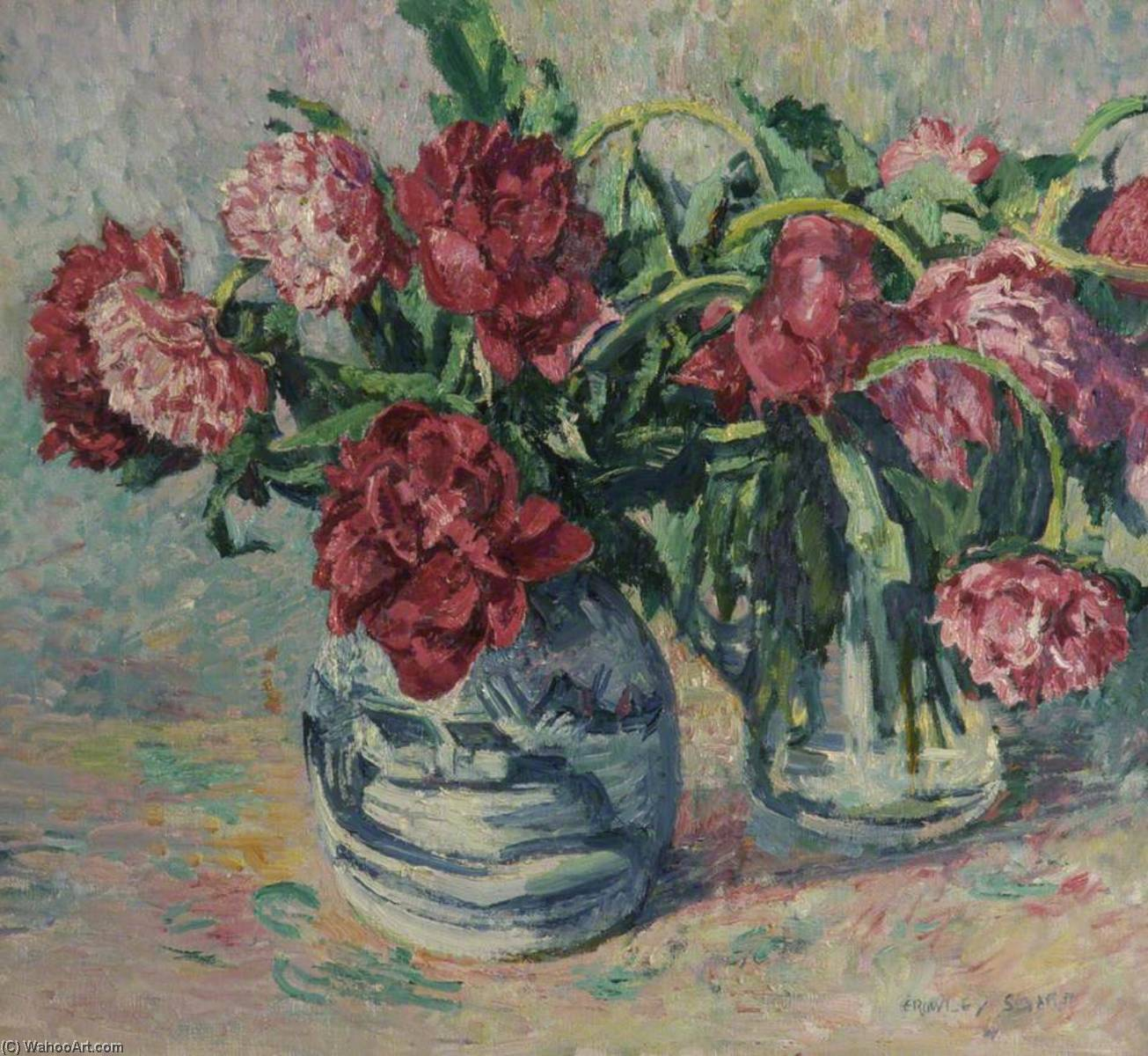 Peonies, Oil On Canvas by Rowley Smart