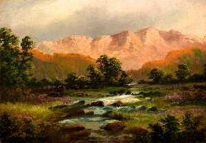 Alfred Worthington - Landscape with Mountains